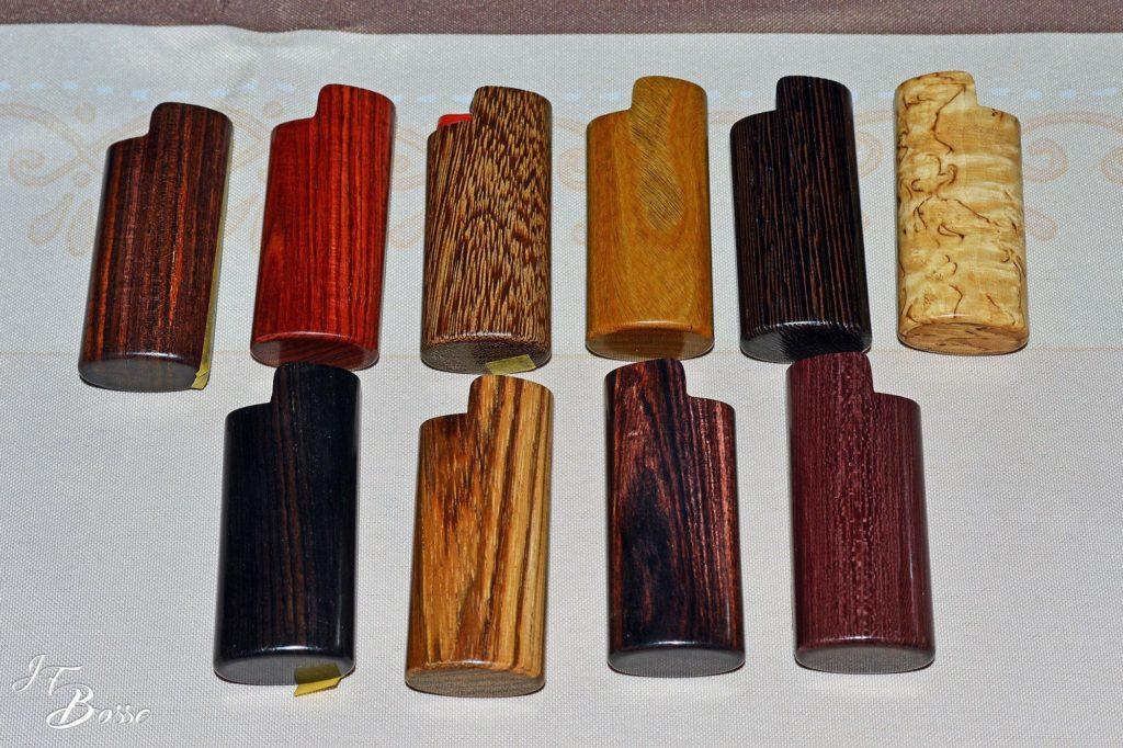 Etuis à briquet en bois précieux