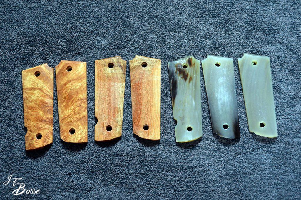 Exemple de tabletterie : plaquettes de colt