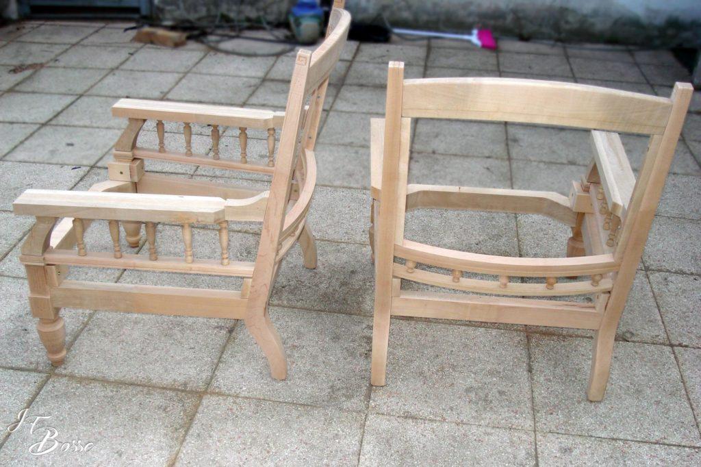 Fabrication structure fauteuil pour tapissier