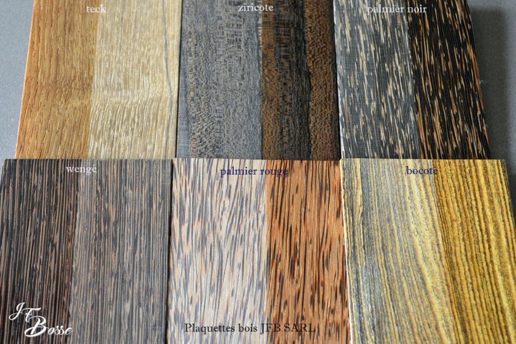 Matières premières en bois précieux