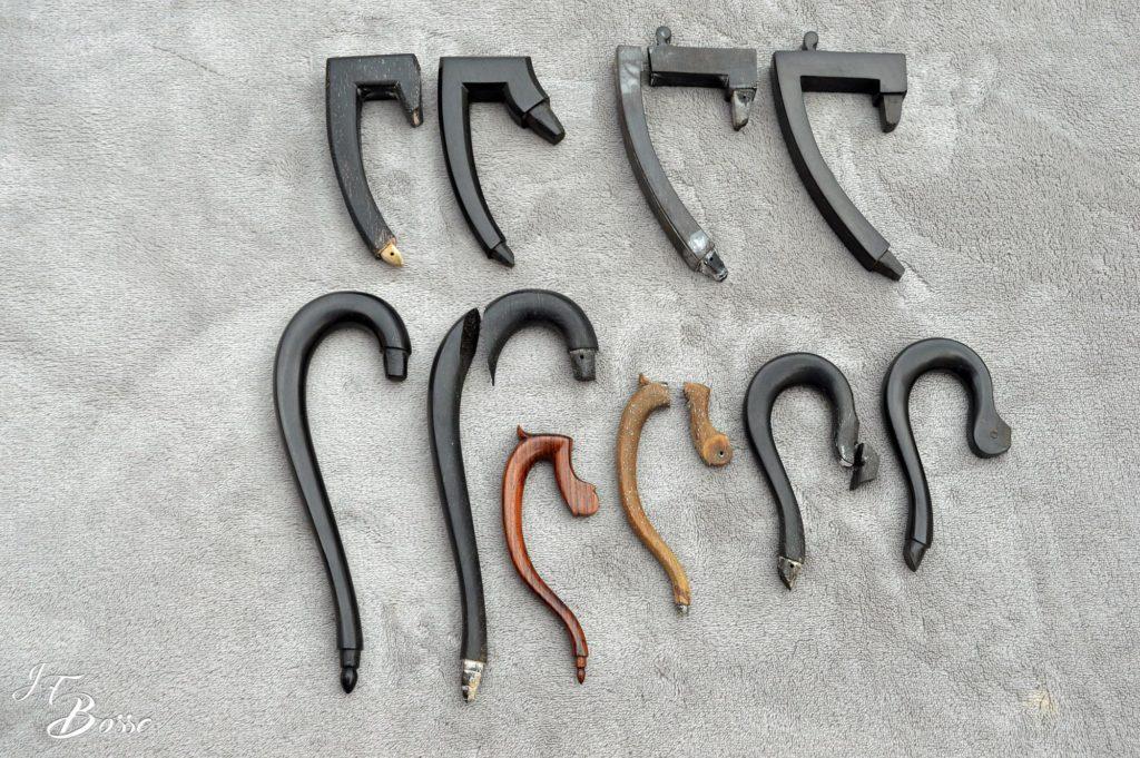 Réparation anses en ébène et anse en palissandre pour cafetière, théière ou crémier
